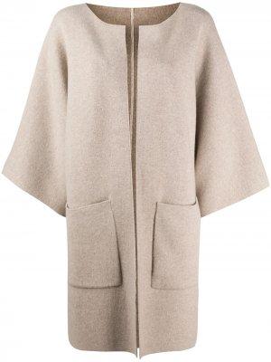 Пальто-кардиган без застежки Liska. Цвет: нейтральные цвета