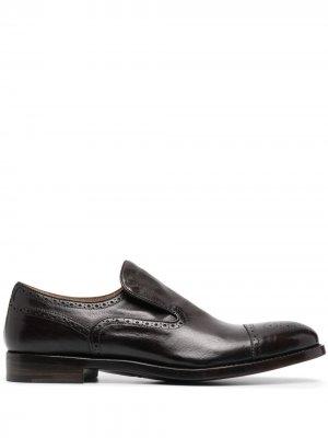 Туфли Abel без шнуровки Alberto Fasciani. Цвет: коричневый
