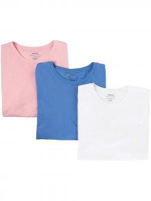 Комплект из трех футболок Polo Ralph Lauren. Цвет: синий