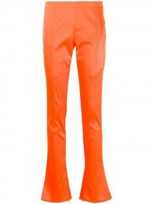 Расклешенные брюки скинни Off-White. Цвет: оранжевый