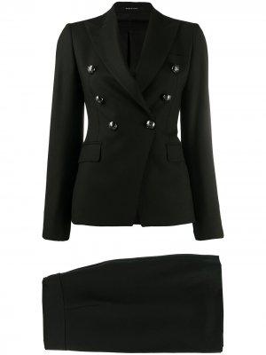 Костюм с юбкой и пиджаком Tagliatore. Цвет: черный
