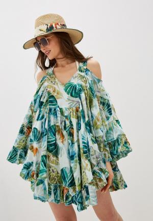 Платье пляжное Allegri. Цвет: белый