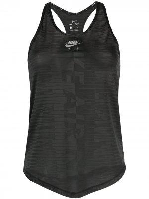 Спортивный топ Air Nike. Цвет: черный
