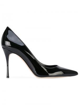 Туфли с заостренным носком Sergio Rossi. Цвет: черный