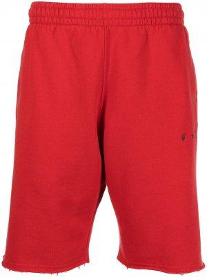 Спортивные шорты с логотипом Off-White. Цвет: красный