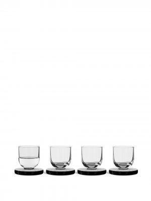 Puck shot glasses (set of 4) Tom Dixon. Цвет: белый