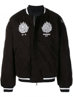 Logo quilted bomber jacket Maharishi. Цвет: черный
