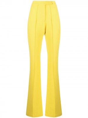 Расклешенные брюки с завышенной талией Alex Perry. Цвет: желтый