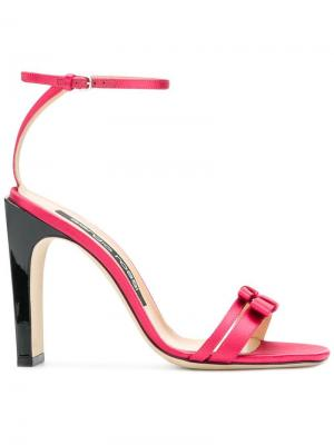 Double bow strap sandals Sergio Rossi. Цвет: розовый