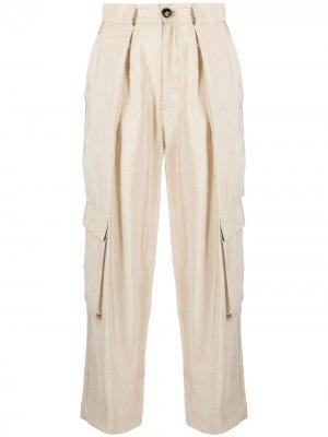 Зауженные брюки карго Tela. Цвет: нейтральные цвета
