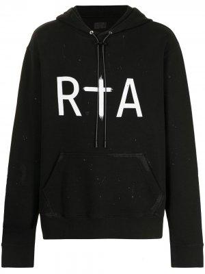 Худи с логотипом RtA. Цвет: черный