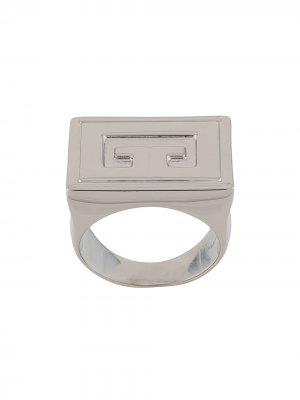 Кольцо-перстень с логотипом Givenchy. Цвет: серебристый