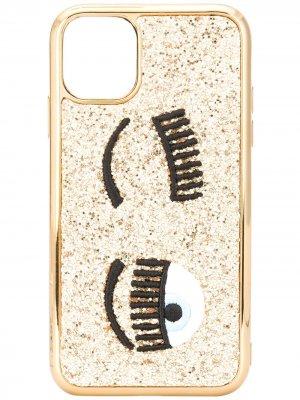 Чехол Flirting Eye для iPhone 11 Chiara Ferragni. Цвет: золотистый