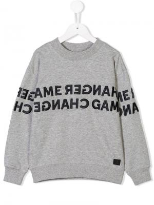 Embroidered design sweatshirt Molo. Цвет: серый