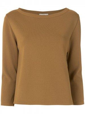 Трикотажная блузка Glória Egrey. Цвет: коричневый