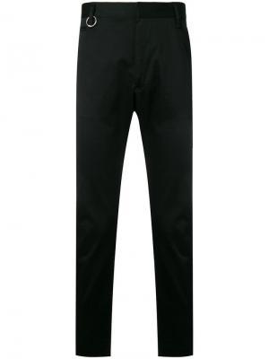 Габардиновые брюки чинос узкого кроя Diesel. Цвет: черный