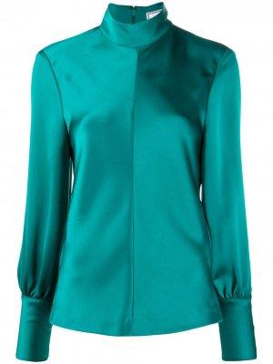 Блузка с длинными рукавами AMI Paris. Цвет: зеленый