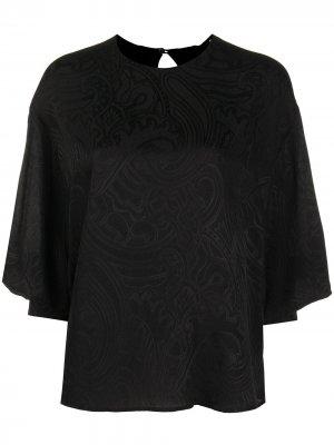 Блузка с принтом пейсли Etro. Цвет: черный