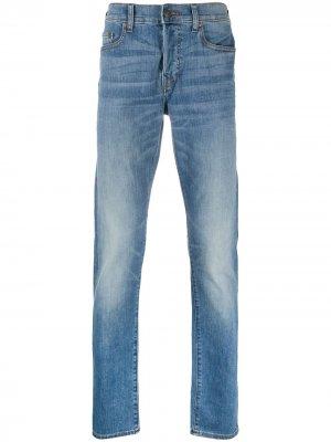 Прямые джинсы True Religion. Цвет: синий