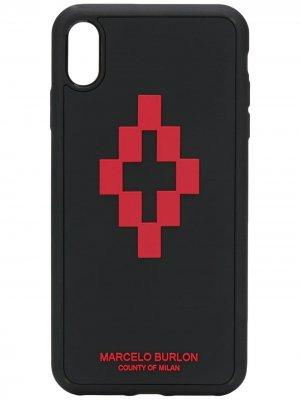 Чехол для iPhone XS Max с логотипом Marcelo Burlon County of Milan. Цвет: черный