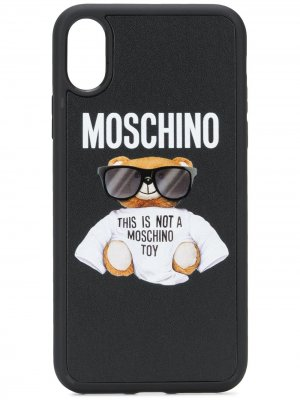 Чехол Teddy для iPhone XS Moschino. Цвет: черный