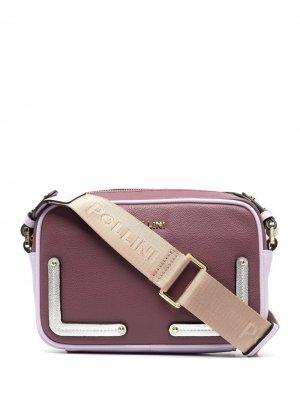 Сумка на плечо в стиле колор-блок Pollini. Цвет: розовый