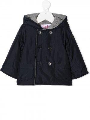 Двубортное пальто Il Gufo. Цвет: синий