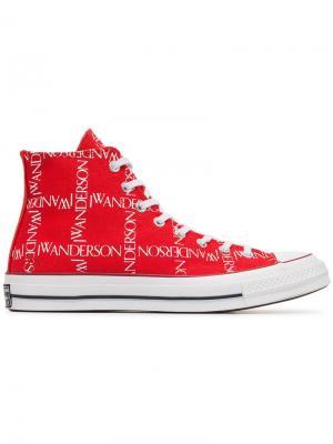 X JW Anderson кеды с принтом логотипа Converse. Цвет: красный