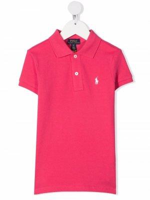 Рубашка поло Polo Pony Ralph Lauren Kids. Цвет: розовый