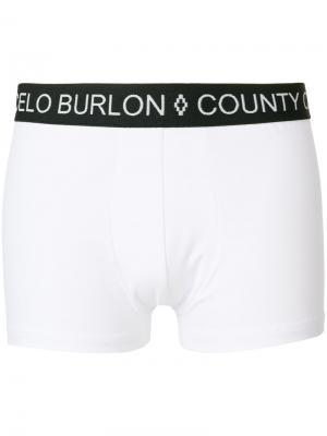 Боксеры с логотипом Marcelo Burlon County of Milan. Цвет: белый