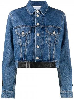 Джинсовая куртка Trucker Helmut Lang. Цвет: синий