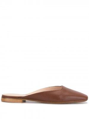 Мюли с квадратным носком Rodo. Цвет: коричневый