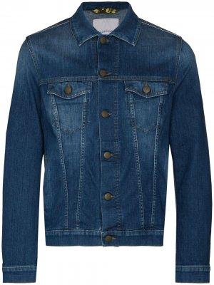 Джинсовая куртка на пуговицах Jacob Cohen. Цвет: синий