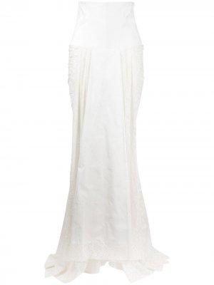 Юбка макси с корсетом Antonio Marras. Цвет: белый