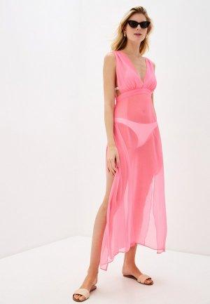 Платье пляжное Brave Soul. Цвет: розовый