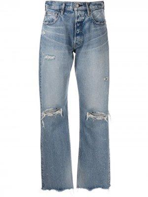 Прямые джинсы Odessa Moussy Vintage. Цвет: синий