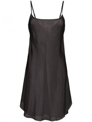 Полупрозрачная ночная сорочка Lee Mathews. Цвет: черный