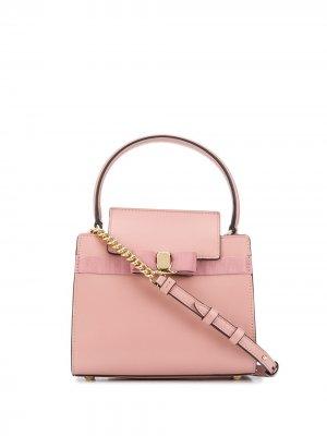Маленькая сумка-тоут Vara Bow Salvatore Ferragamo. Цвет: розовый