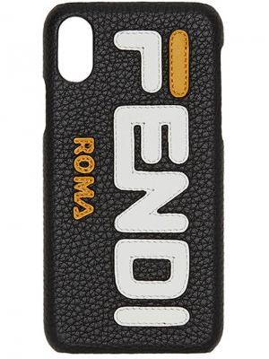 Чехол для Phone X Mania Fendi. Цвет: черный