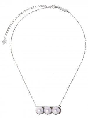 Золотое колье Balance Unite с бриллиантами и жемчугом TASAKI. Цвет: белый