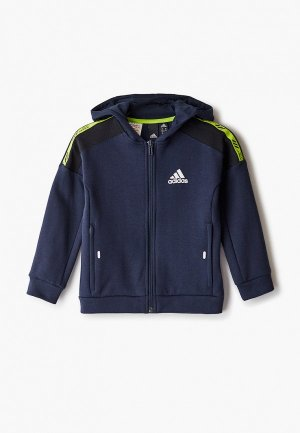 Толстовка adidas. Цвет: синий