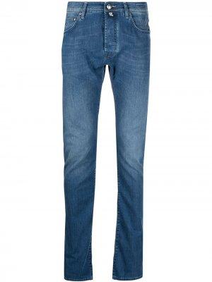 Прямые джинсы с заниженной талией Jacob Cohen. Цвет: синий
