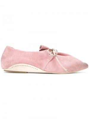 Туфли на шнуровке с заостренным носком Marsèll. Цвет: розовый и фиолетовый