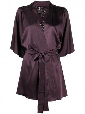 Декорированный халат Fleur Of England. Цвет: фиолетовый