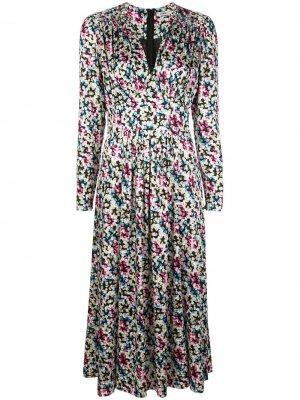 Платье с абстрактным принтом Jason Wu. Цвет: разноцветный