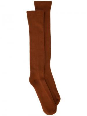Носки Rick Owens. Цвет: оранжевый