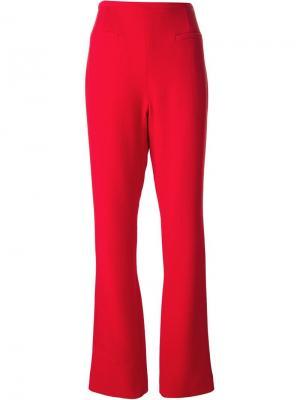Расклешенные брюки Jean Louis Scherrer Pre-Owned. Цвет: красный