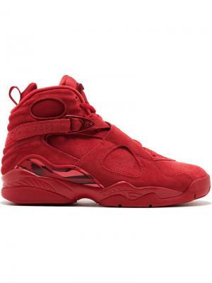 Хайтопы Air  8 Retro Jordan. Цвет: красный
