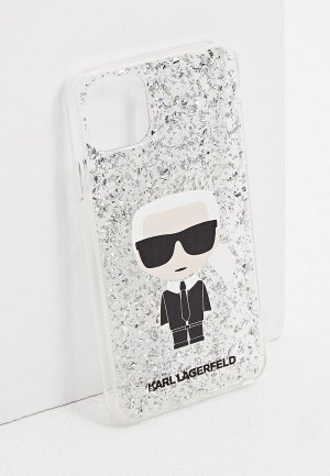 Чехол для iPhone Karl Lagerfeld. Цвет: серебряный