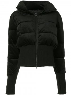 Куртка-пуховик с перчатками-митенками Unreal Fur. Цвет: черный